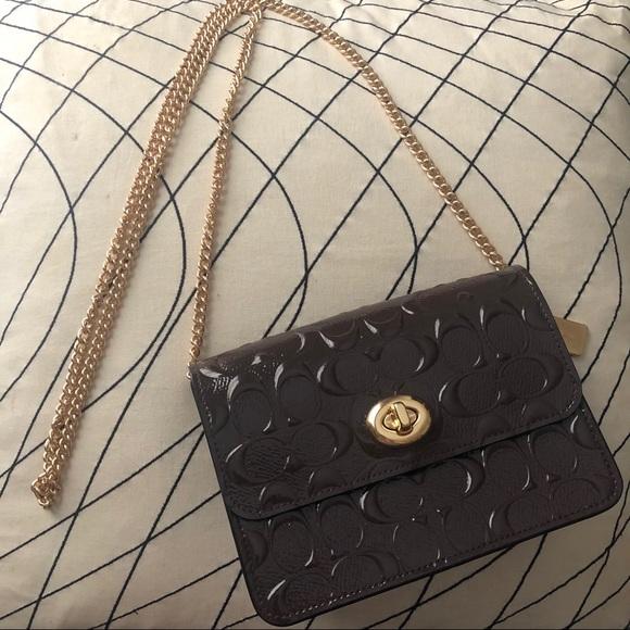 Coach Handbags - COACH Signature Patent Leather Bowery Crossbody